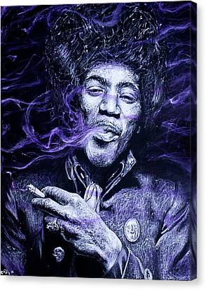 I S C M- Purple Haze Canvas Print by Soler Art