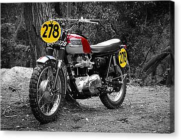 Isdt Triumph Steve Mcqueen Canvas Print by Mark Rogan