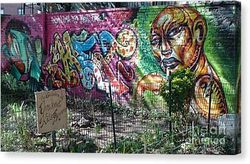 Canvas Print featuring the photograph Isham Park Graffiti  by Cole Thompson