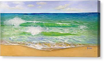 Cost Line Canvas Print - Isla Mujeres Beach by Cindy Kemp
