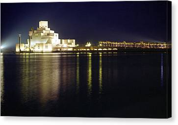 Islamic Museum At Night Canvas Print by Paul Cowan