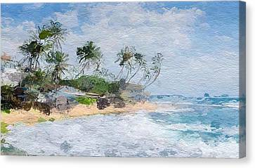 Sandy Beach Canvas Print - Island Abstract  by Anthony Fishburne