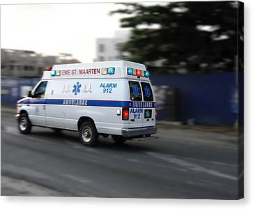 Canvas Print featuring the photograph Island Ambulance by RKAB Works
