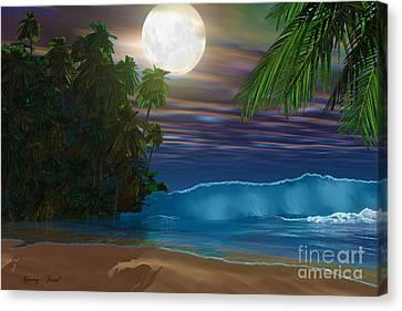 Island Beach Canvas Print by Corey Ford