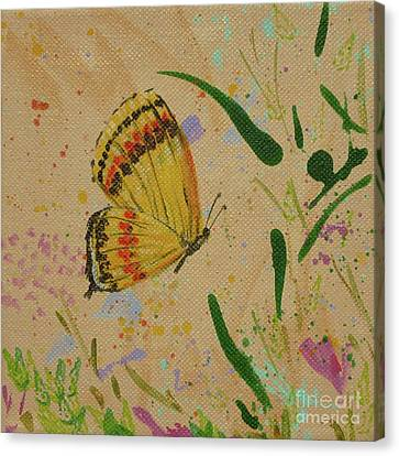 Island Butterfly Series 1 Of 6 Canvas Print by Gail Kent
