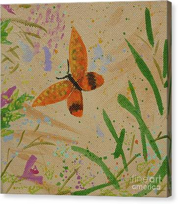 Island Butterfly Series 3 Of 6 Canvas Print by Gail Kent
