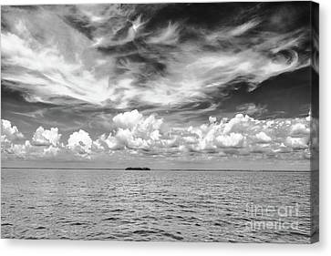 Island, Clouds, Sky, Water Canvas Print