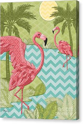 Island Flamingo - Vertical Canvas Print