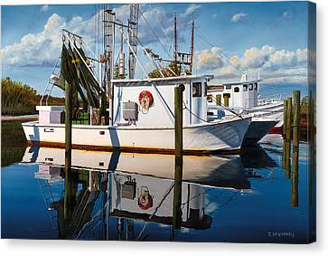 Canvas Print featuring the painting Island Girl by Rick McKinney