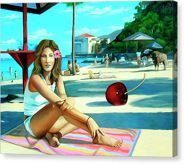 Island Girl Canvas Print by Snake Jagger