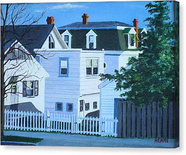 Island Heights Back Yards Canvas Print by Robert Henne