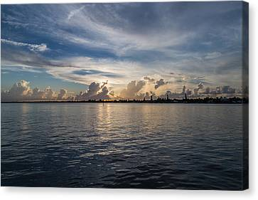 Island Horizon Canvas Print by Christopher L Thomley