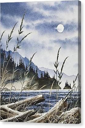 Island Moon Canvas Print by James Williamson
