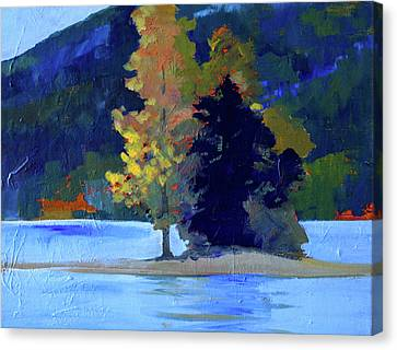 Canvas Print featuring the painting Island by Nancy Merkle