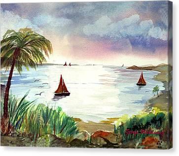 Island Of Dreams Canvas Print by George Markiewicz