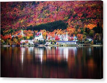Island Pond Vermont Canvas Print by Sherman Perry