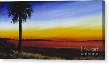 Island River Palmetto Canvas Print by James Christopher Hill