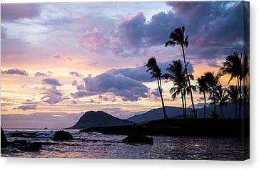 Canvas Print featuring the photograph Island Silhouettes  by Heather Applegate