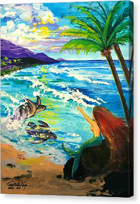 Island Sisters Canvas Print by Karon Melillo DeVega