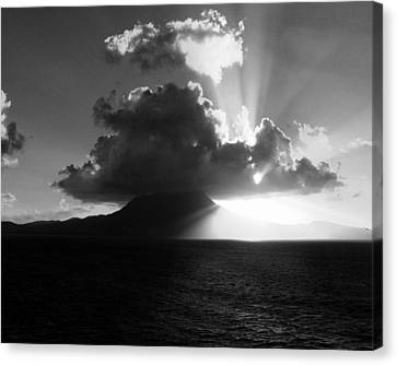 Island Sunrise 2  Canvas Print by Perry Webster