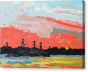 Oil Canvas Print - Island Sunrise by Phil Chadwick