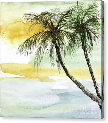 Island Sunset I Canvas Print