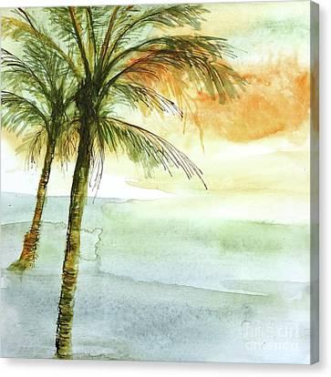 Island Sunset II Canvas Print