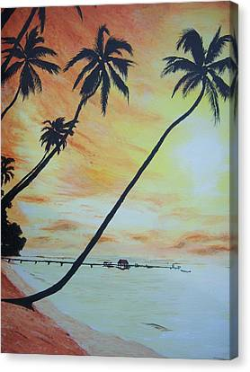 Island Sunset Canvas Print by Ken Day