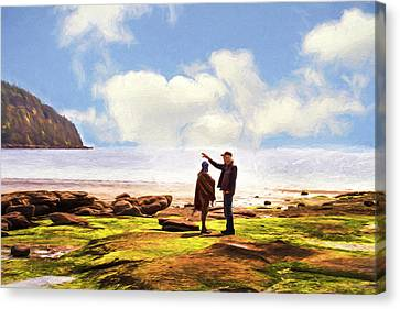 Hornby Island Canvas Print - Island Time - A Day At The Beach by Peggy Collins