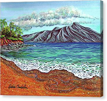 Island Time Canvas Print by Debbie Chamberlin