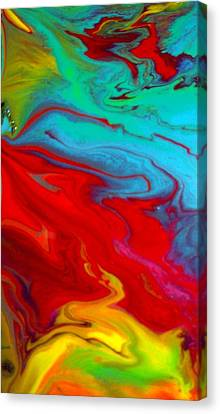 Island Tropicale Diptych II Canvas Print by Holly Anderson