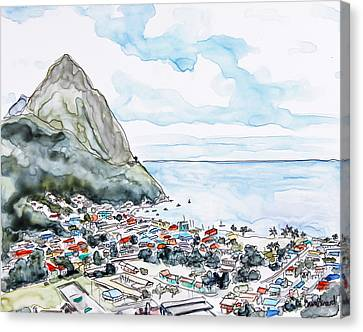 Island View Canvas Print by Shaina Stinard