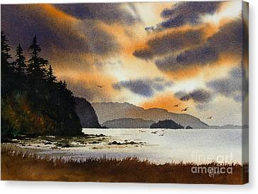 Islands Autumn Sky Canvas Print by James Williamson