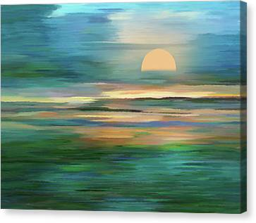 Islands In The Sunset Abstract Realism Canvas Print by Georgiana Romanovna