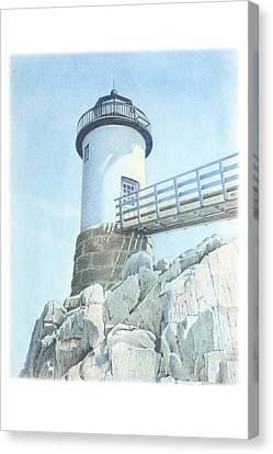 Isle Au Haut Light Canvas Print