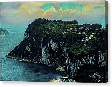 Isle Of Capri Italy Canvas Print by Russ Harris