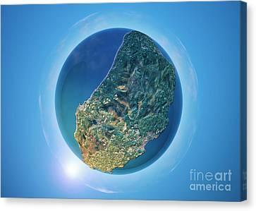 Isle Of Man 3d Little Planet 360-degree Sphere Panorama Canvas Print by Frank Ramspott