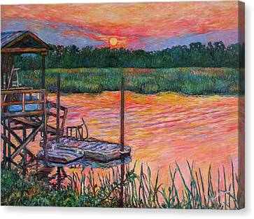 Isle Of Palms Sunset Canvas Print by Kendall Kessler
