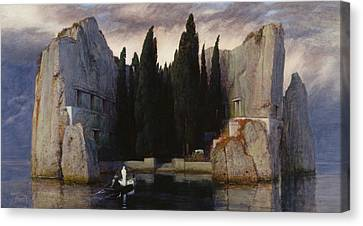 Isle Of The Dead Canvas Print by Arnold Bocklin