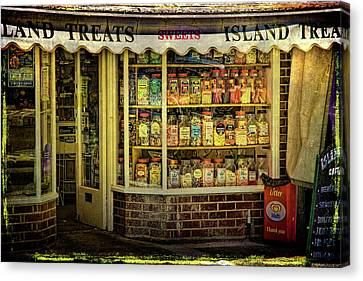 Isle Of Wight Candy Store Canvas Print by Chris Lord