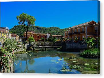 Canvas Print featuring the photograph Isola Del Liri by Dany Lison