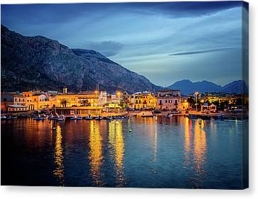 Isola Delle Femmine Harbour Canvas Print