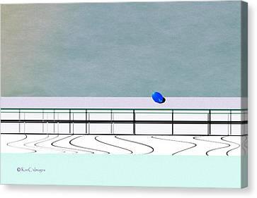 Canvas Print featuring the digital art Isolation 2 by Kae Cheatham