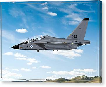 Israeli Air Force Airmacchi M-346i Master Lavi In Flight Canvas Print