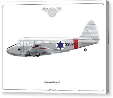 Israeli Air Force Airspeed Consul #2808 Canvas Print