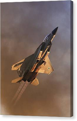 Canvas Print featuring the photograph Israeli Air Force F-15i by Amos Dor