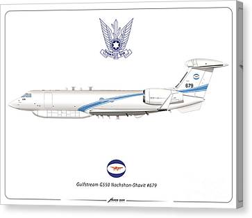 Israeli Air Force Gulfstream G550 #679 Canvas Print