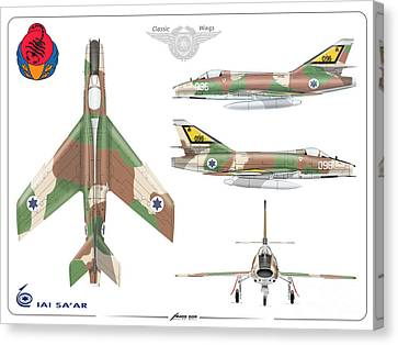 Israeli Air Force Iai Super Mystere Sa'ar Canvas Print