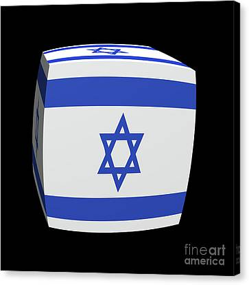 Israeli Flag Cubed. Canvas Print