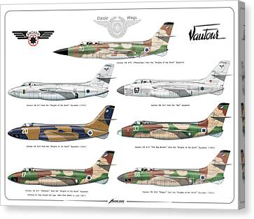 Israeli Air Force Sncaso Voutours Canvas Print